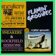 Album cover art for the aim release Sneakers / Rockfield Sessions by Flamin' Groovies.