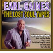 Album cover art for the aim release The Lost Soul Tapes by Earl Gaines